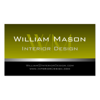 Olive & Silver Stripe Professional Business Card