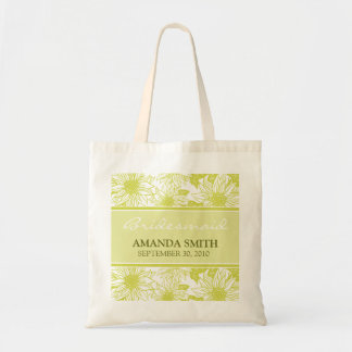 Olive Sunflowers Personalized Wedding Party Bag