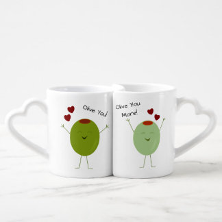 Olive The Love Personalized Coffee Mug Set