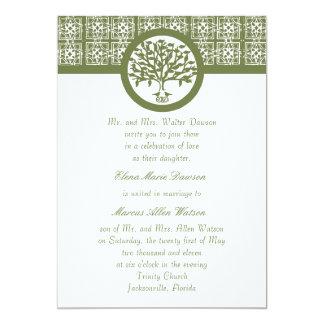 Olive Tree Emblem Wedding Invitation