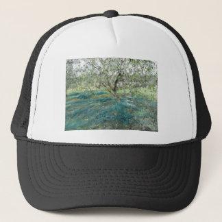Olive tree in the garden trucker hat