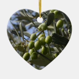 Olive Trees Ceramic Heart Decoration