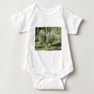 Olive trees in a sunny day. Tuscany, Italy Baby Bodysuit
