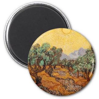 Olive-trees of Vincent Van Gogh (Olives trees) Magnet
