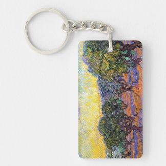 Olive Trees, Orange Sky  Van Gogh Vincent Acrylic Keychain