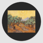 Olive Trees Round Stickers