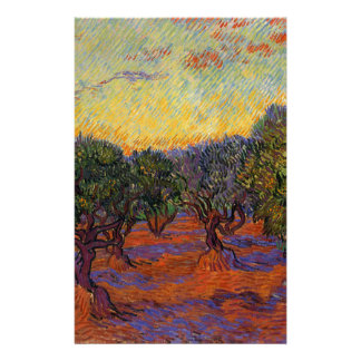 Olive Trees - Vincent Van Gogh Personalised Stationery