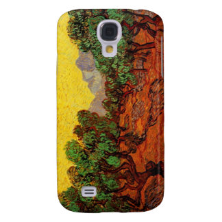 Olive Trees with Yellow Sky and Sun Galaxy S4 Case