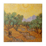 Olive Trees, Yellow Sky and Sun, Vincent van Gogh