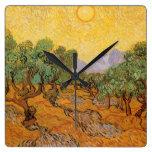 Olive Trees Yellow Sky Sun, van Gogh, Vintage Art
