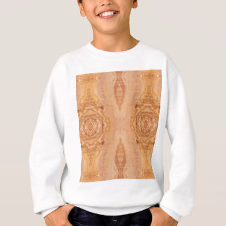 Olive wood surface texture patterns sweatshirt