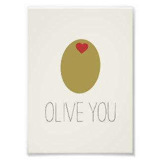 Olive You Design Photo Print