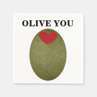 Olive You Disposable Napkins
