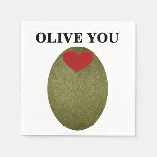Olive You Disposable Napkins Disposable Napkin