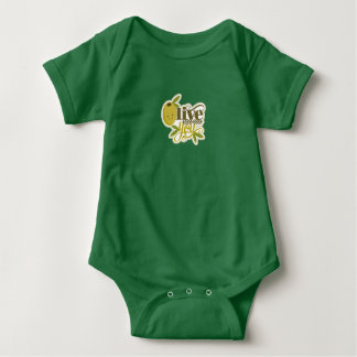 Olive You I Love You Baby Green Snap T-Shirt