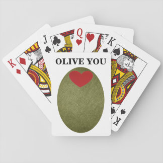 Olive You Playing Cards