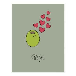 """""""Olive You!"""" Postcard"""