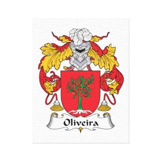 Oliveira Family Crest Canvas Print