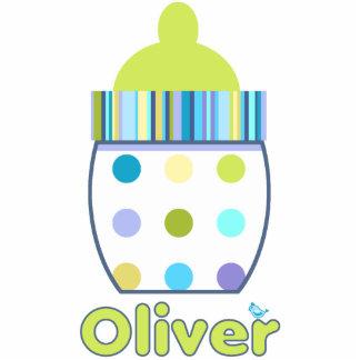 Oliver Baby Bottle Photo Sculpture Decoration