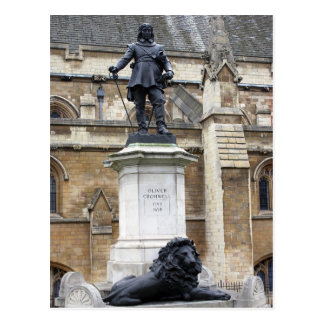 Oliver Cromwell Statue - London - Postcard