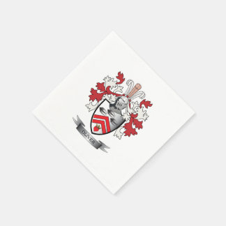 Oliver Family Crest Coat of Arms Disposable Napkin