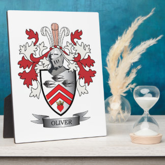Oliver Family Crest Coat of Arms Plaque