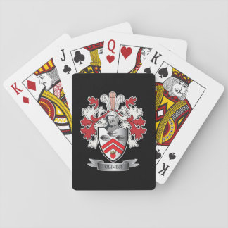 Oliver Family Crest Coat of Arms Playing Cards