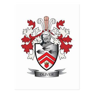 Oliver Family Crest Coat of Arms Postcard