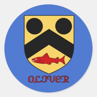 Oliver Family Shield Sticker