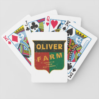 Oliver Farming Bicycle Playing Cards