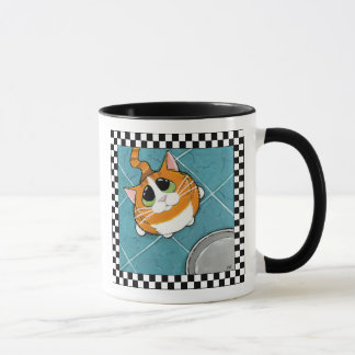 Oliver | Hungry Ginger Tabby Cat | Cat Art Mug