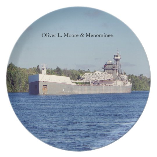 Oliver L. Moore & Menominee plate