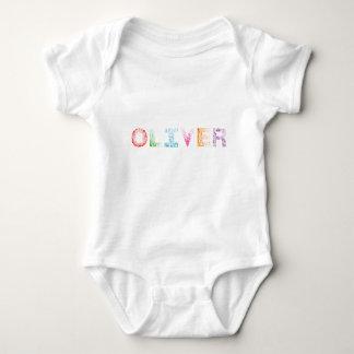 Oliver Letter Name Baby Bodysuit