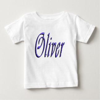 Oliver, Name, Logo, Baby's White T-shirt