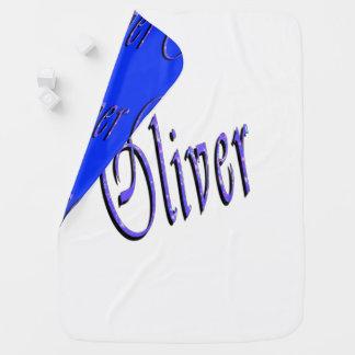 Oliver, Name, Logo, Reversible Snugly Baby Blanket