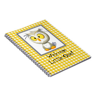 Oliver Owl Yellow & White Baby Photo Book