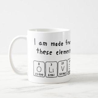 Oliver periodic table name mug