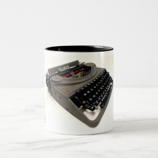 Oliver portable typewriter Two-Tone coffee mug