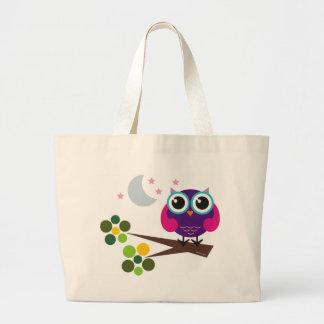 oliver, the owl large tote bag