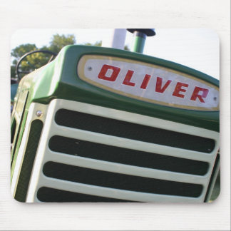 Oliver tractor decal colorful mousepad gift idea