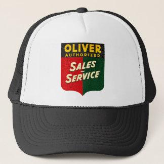 oliver Tractors vintage sales and service sign Trucker Hat