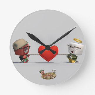 Oliver & Trouble Tugging Heartstrings Wall Clock
