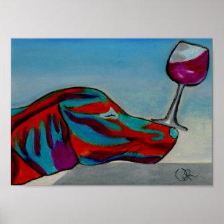 Oliver Wine Poster