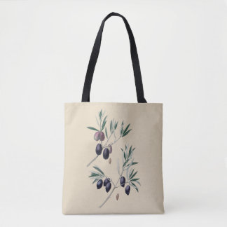 Olives botanical tote bag