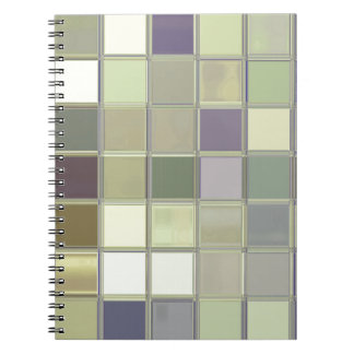Olives & Eggplants Tiles Mosaic Custom Notebook