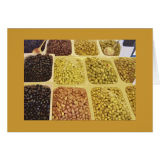 Olives for Sale! Greeting Card
