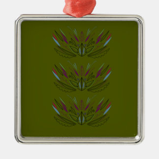 Olives green edition metal ornament