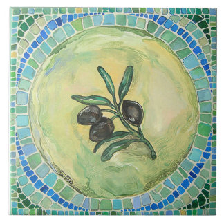 """Olives"", Large (6"" x 6"") Ceramic Tile"