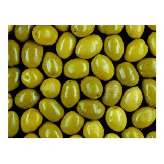 Olives texture postcard