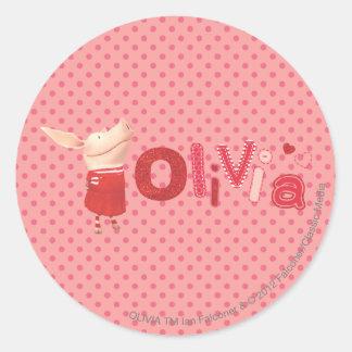 Olivia - 1 round sticker